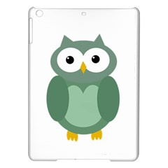 Green cute transparent owl iPad Air Hardshell Cases