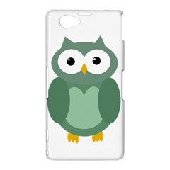 Green cute transparent owl Sony Xperia Z1 Compact