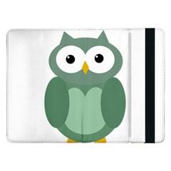 Green cute transparent owl Samsung Galaxy Tab Pro 12.2  Flip Case