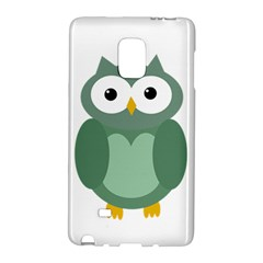 Green cute transparent owl Galaxy Note Edge