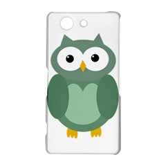 Green cute transparent owl Sony Xperia Z3 Compact