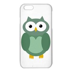 Green cute transparent owl iPhone 6/6S TPU Case