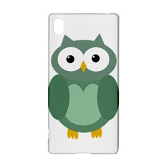 Green cute transparent owl Sony Xperia Z3+