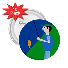 Fisherman 2.25  Buttons (10 pack)