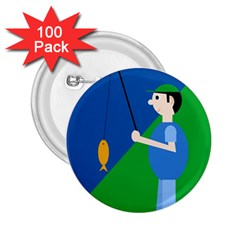 Fisherman 2.25  Buttons (100 pack)