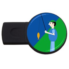Fisherman USB Flash Drive Round (2 GB)