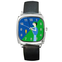 Fisherman Square Metal Watch
