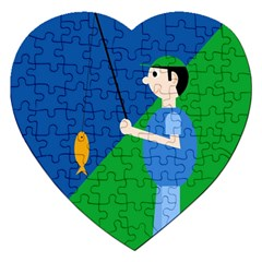 Fisherman Jigsaw Puzzle (Heart)