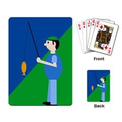 Fisherman Playing Card