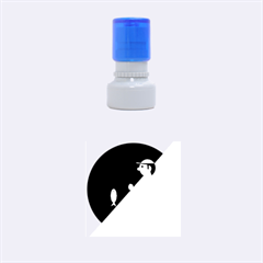 Fisherman Rubber Round Stamps (Small)