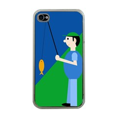 Fisherman Apple iPhone 4 Case (Clear)