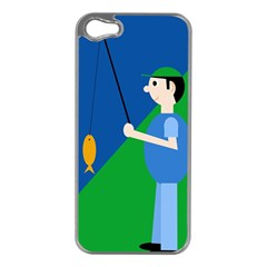 Fisherman Apple iPhone 5 Case (Silver)