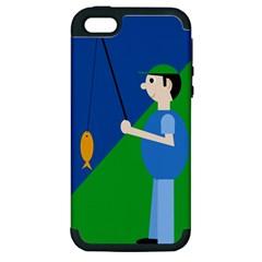 Fisherman Apple iPhone 5 Hardshell Case (PC+Silicone)