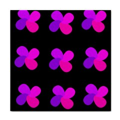 Purple flowers Tile Coasters