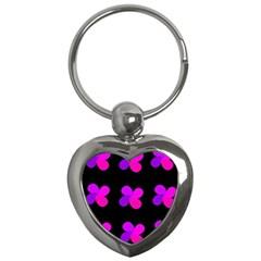 Purple flowers Key Chains (Heart)