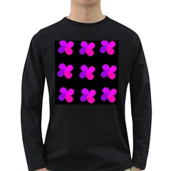 Purple flowers Long Sleeve Dark T-Shirts