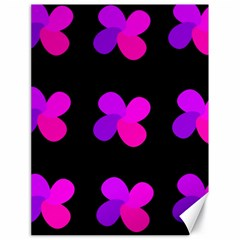 Purple flowers Canvas 18  x 24