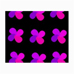 Purple flowers Small Glasses Cloth (2-Side)