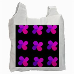 Purple flowers Recycle Bag (One Side)