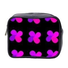 Purple flowers Mini Toiletries Bag 2-Side