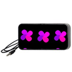 Purple flowers Portable Speaker (Black)