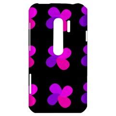 Purple flowers HTC Evo 3D Hardshell Case