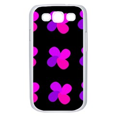 Purple flowers Samsung Galaxy S III Case (White)