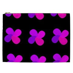Purple flowers Cosmetic Bag (XXL)