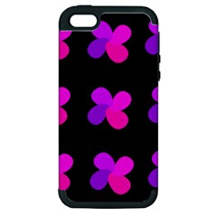 Purple flowers Apple iPhone 5 Hardshell Case (PC+Silicone)
