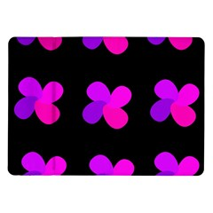 Purple flowers Samsung Galaxy Tab 10.1  P7500 Flip Case