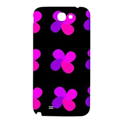 Purple flowers Samsung Note 2 N7100 Hardshell Back Case