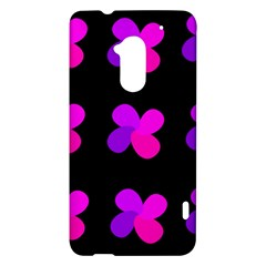 Purple flowers HTC One Max (T6) Hardshell Case