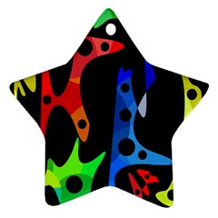 Colorful abstract pattern Ornament (Star)