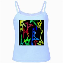 Colorful abstract pattern Baby Blue Spaghetti Tank