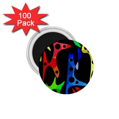Colorful abstract pattern 1.75  Magnets (100 pack)