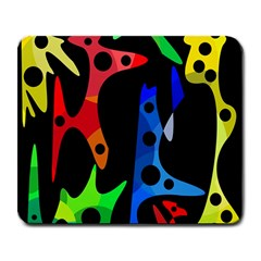 Colorful abstract pattern Large Mousepads