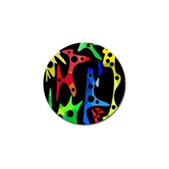 Colorful abstract pattern Golf Ball Marker