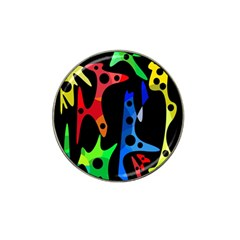 Colorful abstract pattern Hat Clip Ball Marker