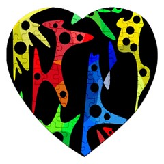 Colorful abstract pattern Jigsaw Puzzle (Heart)