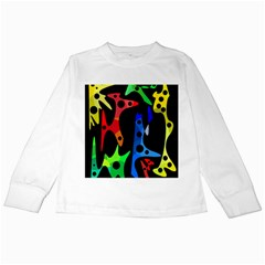 Colorful abstract pattern Kids Long Sleeve T-Shirts