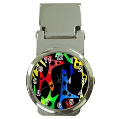 Colorful abstract pattern Money Clip Watches
