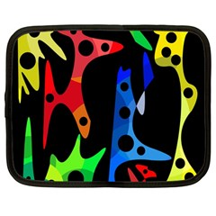 Colorful abstract pattern Netbook Case (Large)
