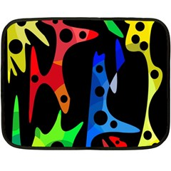 Colorful abstract pattern Double Sided Fleece Blanket (Mini)