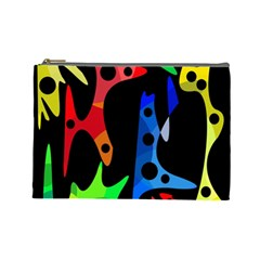 Colorful abstract pattern Cosmetic Bag (Large)