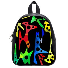 Colorful abstract pattern School Bags (Small)