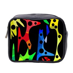 Colorful abstract pattern Mini Toiletries Bag 2-Side