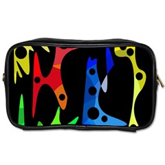 Colorful abstract pattern Toiletries Bags 2-Side
