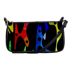 Colorful abstract pattern Shoulder Clutch Bags