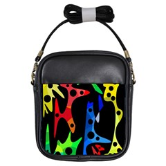 Colorful abstract pattern Girls Sling Bags