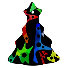 Colorful abstract pattern Christmas Tree Ornament (2 Sides)